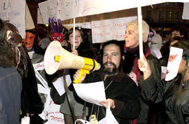 Primera manifestación legal de prostitutas