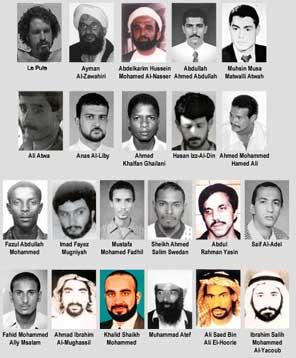 Los terroristas mas buscados